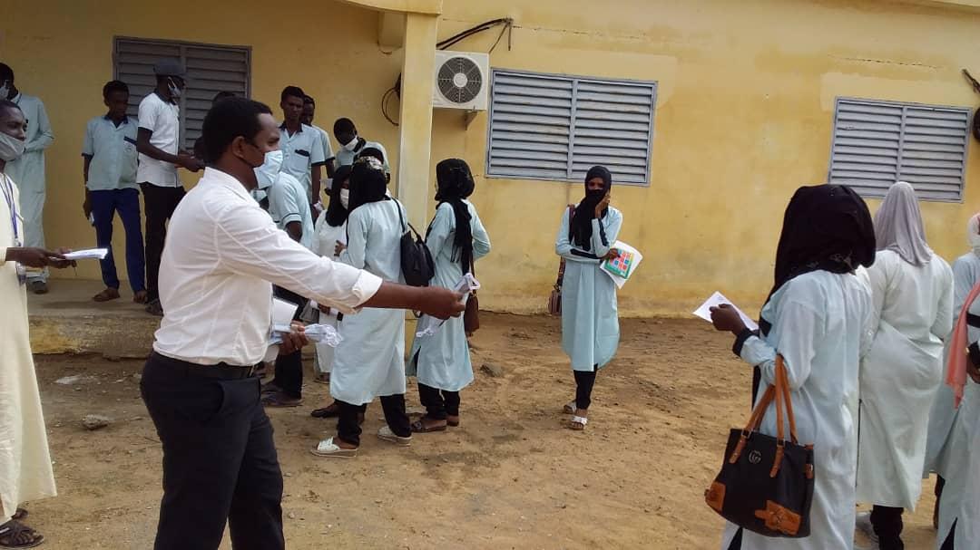 Tchad : dans les lycées d'Ati, la sensibilisation s'accentue contre la Covid-19. ©Hassan Djidda Hassan/Alwihda Info