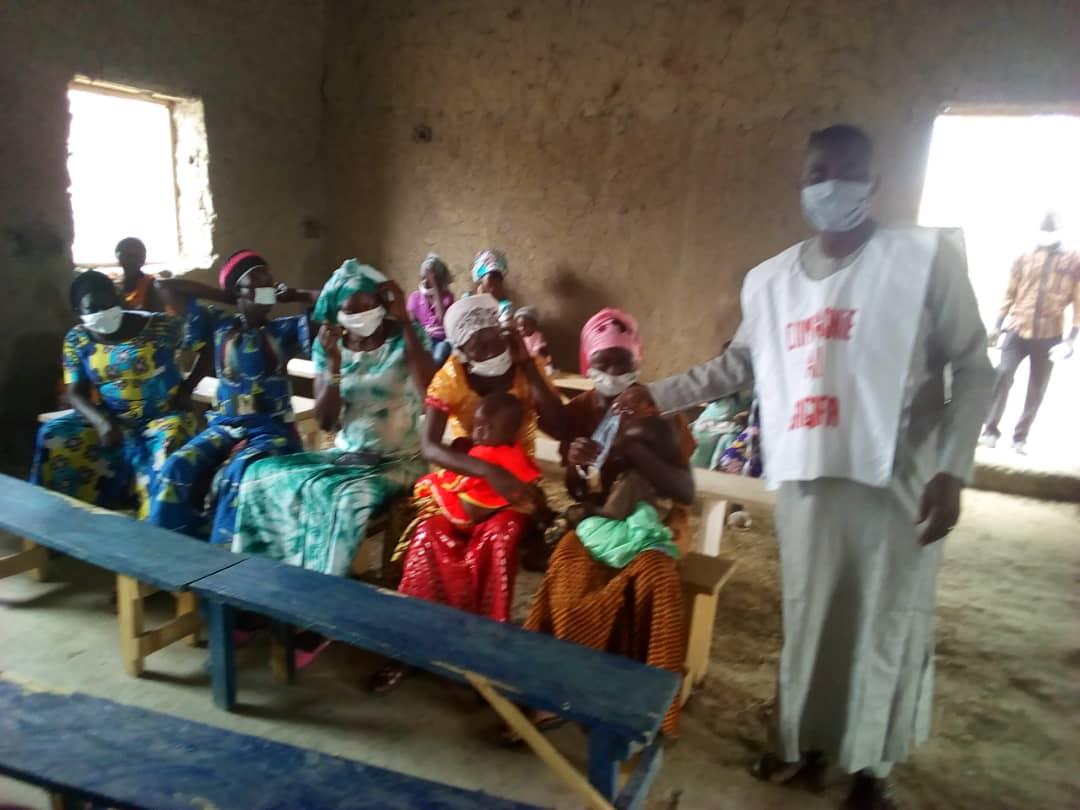 Tchad - Covid 19 : 500 masques remis à deux églises à Massakory : ©️ Mbainaissem Gédéon Mbeïbadoum/Alwihda Info