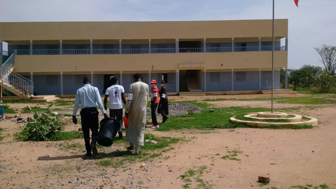 Tchad : à Mongo, les jeunes intensifient les opérations de sensibilisation contre la Covid-19. © Béchir Badjoury/Alwihda Info