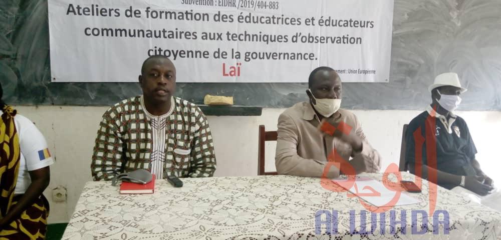 Tchad : à Laï, les techniques d'observation citoyenne de la gouvernance au centre d'une formation. © Éric Guedi/Alwihda Info