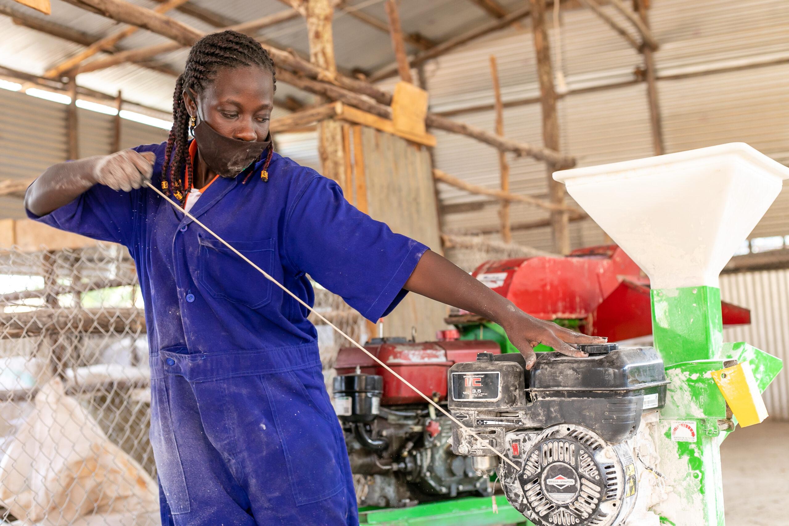 Young Africa Works Ouganda Hawa Sanyu,Jeune Agripreneur , Gudie Leisure Farm