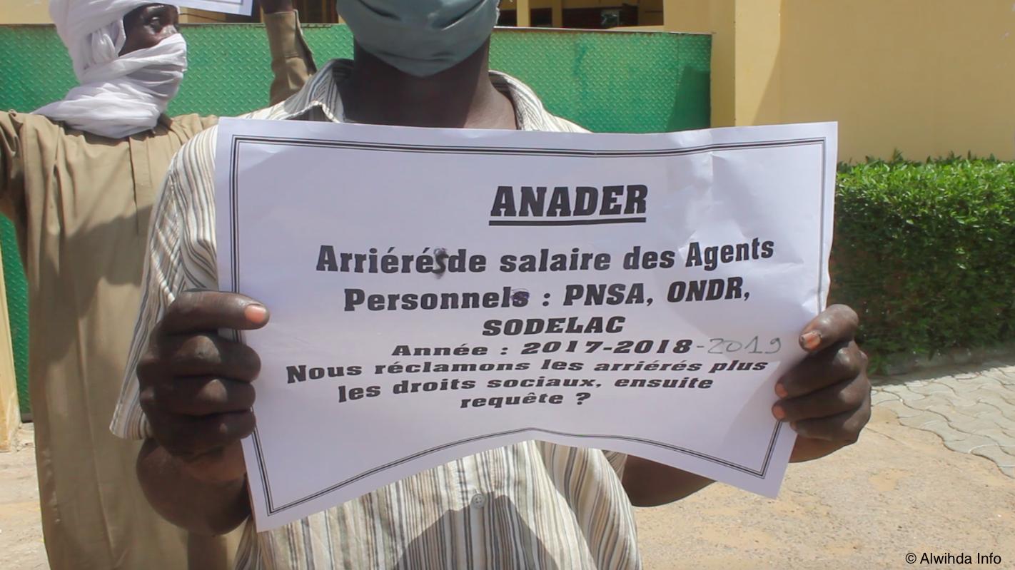 Tchad : sit-in d'ex-agents du PNSA, de l'ONDR et de la Sodelac à N'Djamena