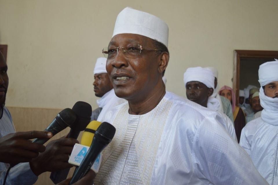 Le chef de l'État Idriss Déby le 11 août 2019 à N'Djamena lors de la célébration de l'Aïd El Adha. © PR