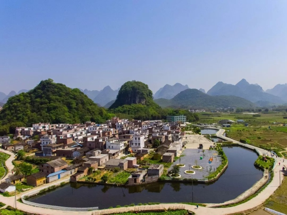 Photo shows beautiful scenery of Shuixi village in Qingyuan, South China's Guangdong Province. (Photo/Courtesy of the Information Office of Qingyuan Municipal Government)