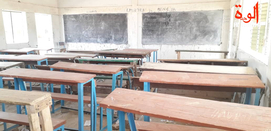 Une salle de classe au Tchad. Illustration © Ben Kadabio/Alwihda Info