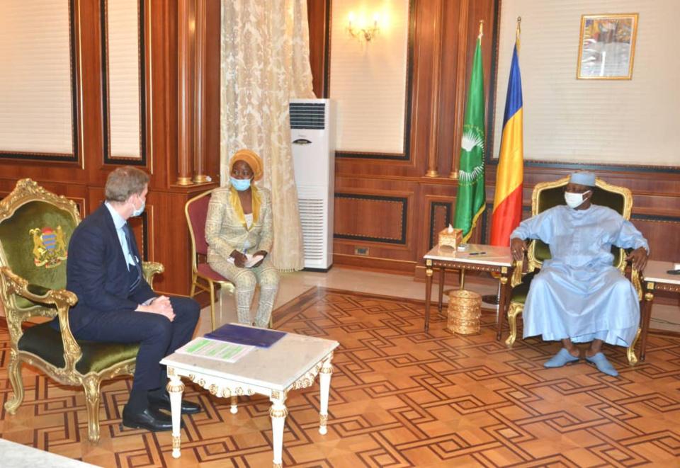 Tchad : une délégation de Glencore reçue par Idriss Déby, le 3 août 2020. © PR