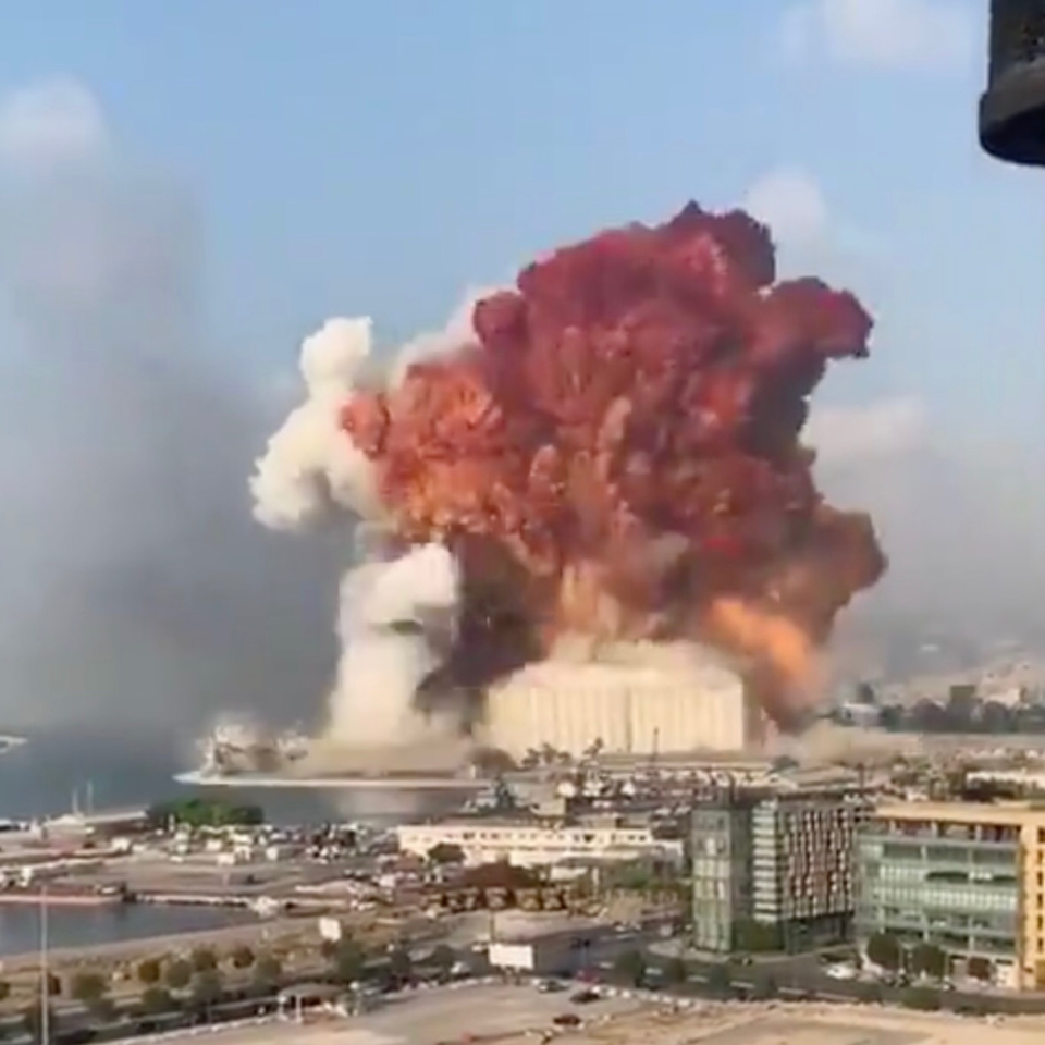Liban : une importante explosion secoue la capitale Beyrouth. ©Capture d'écran/Vidéo amateur