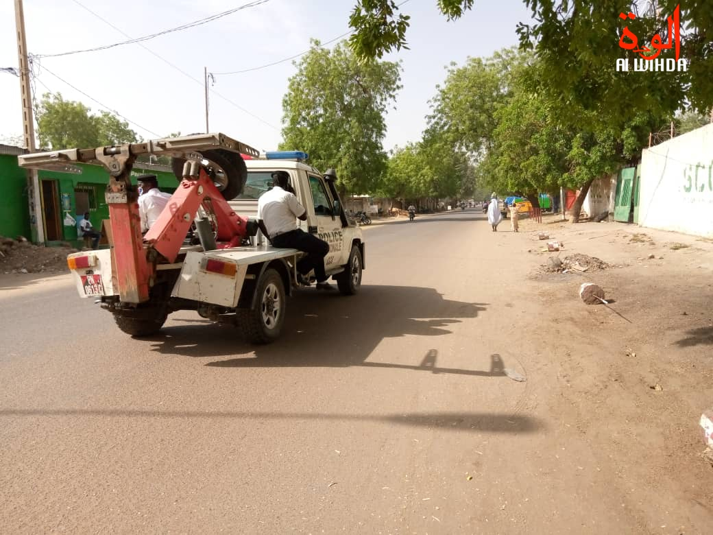 Un véhicule de police à N'Djamena. Illustration. © Kelvin Djetoyo/Alwihda Info