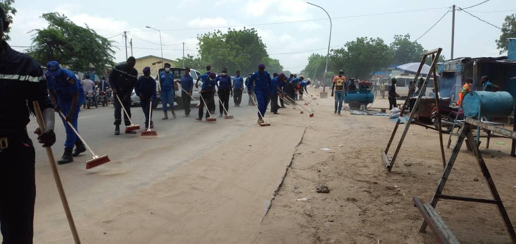 L'avenue Jacques Nadingar, menant au Palais de la démocratie à N'Djamena. © Malick Mahamat/Alwihda Info