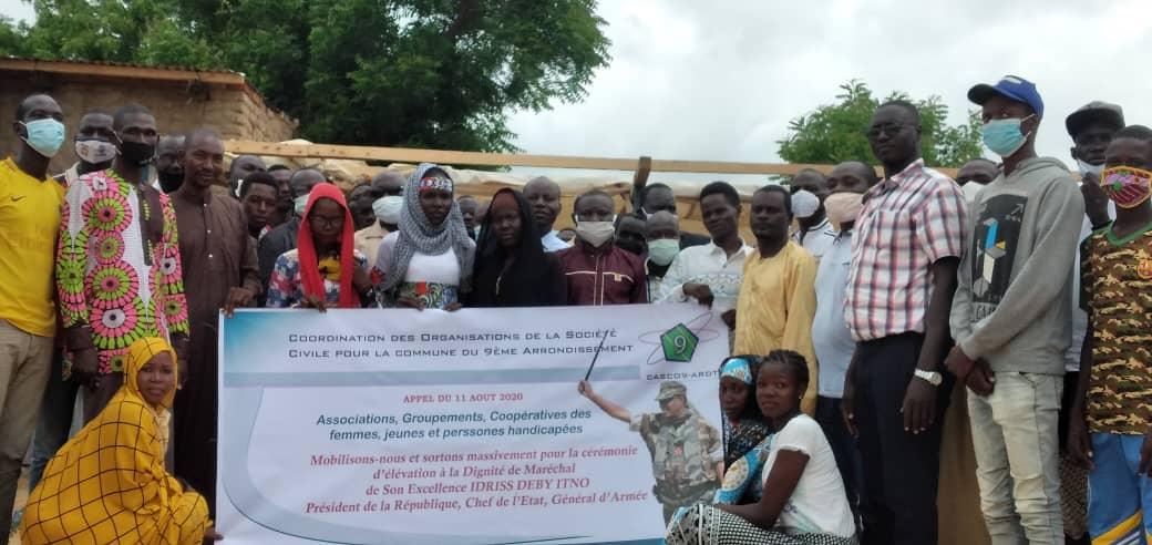 Tchad : des organisations appellent à se mobiliser pour la cérémonie d'élévation de Maréchal. © Malick Mahamat/Alwihda Info