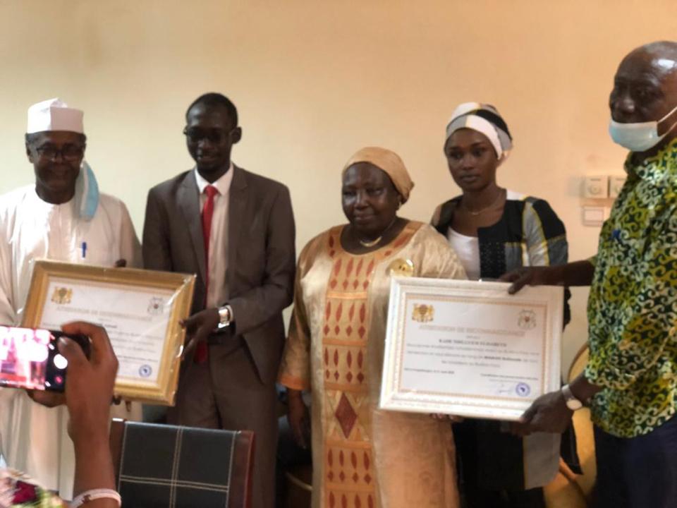 Burkina Faso : L'ambassadrice du Tchad et Dr. Djimet Adoum honorés par la diaspora
