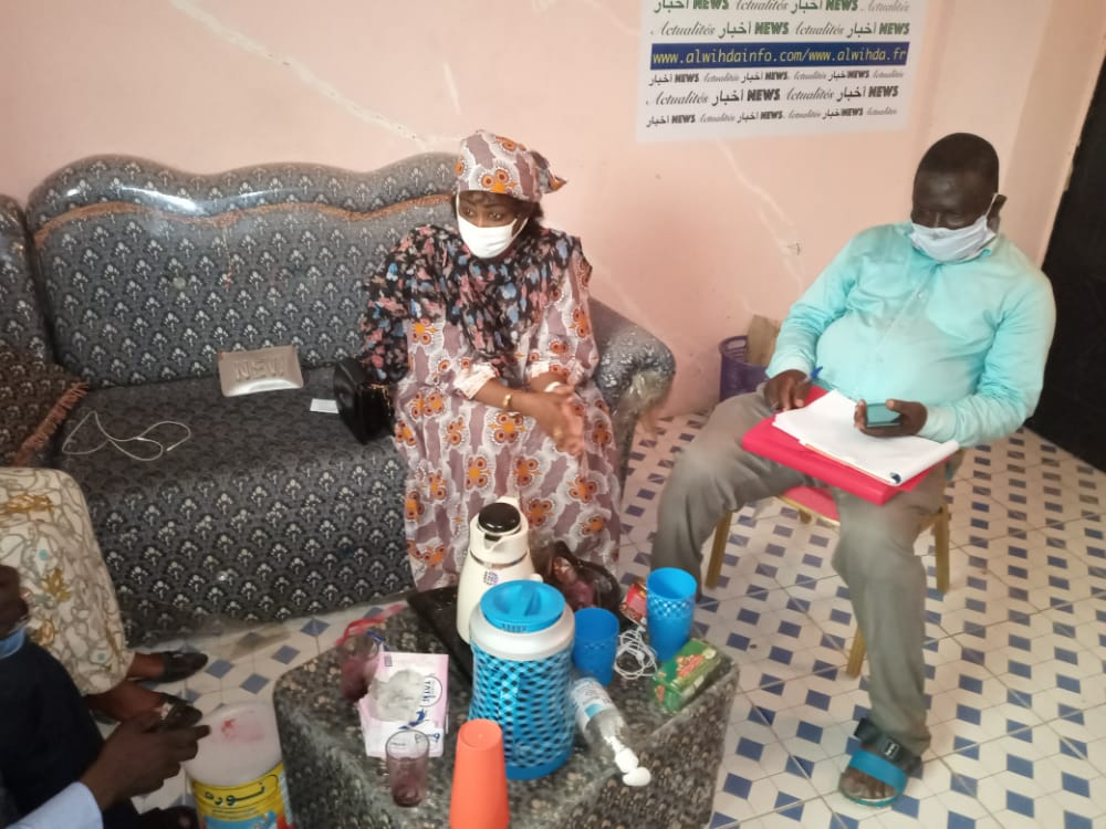 Tchad : visite de la présidente de l'UNAT, Ndjelar Koumadji Mariam, à Alwihda. ©Mahamat Abdramane Ali Kitire/Alwihda Info