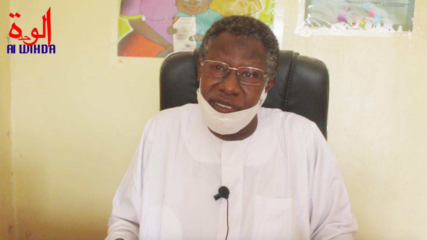 Le défenseur des droits de l'Homme et secrétaire général de la CTDDH, Mahamat Nour Ibedou.