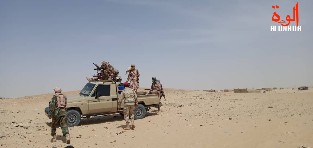 Des militaires tchadiens lors d'une opération au Bourkou, au Nord du Tchad. © Abdoulaye Adoum Akim/Alwihda Info