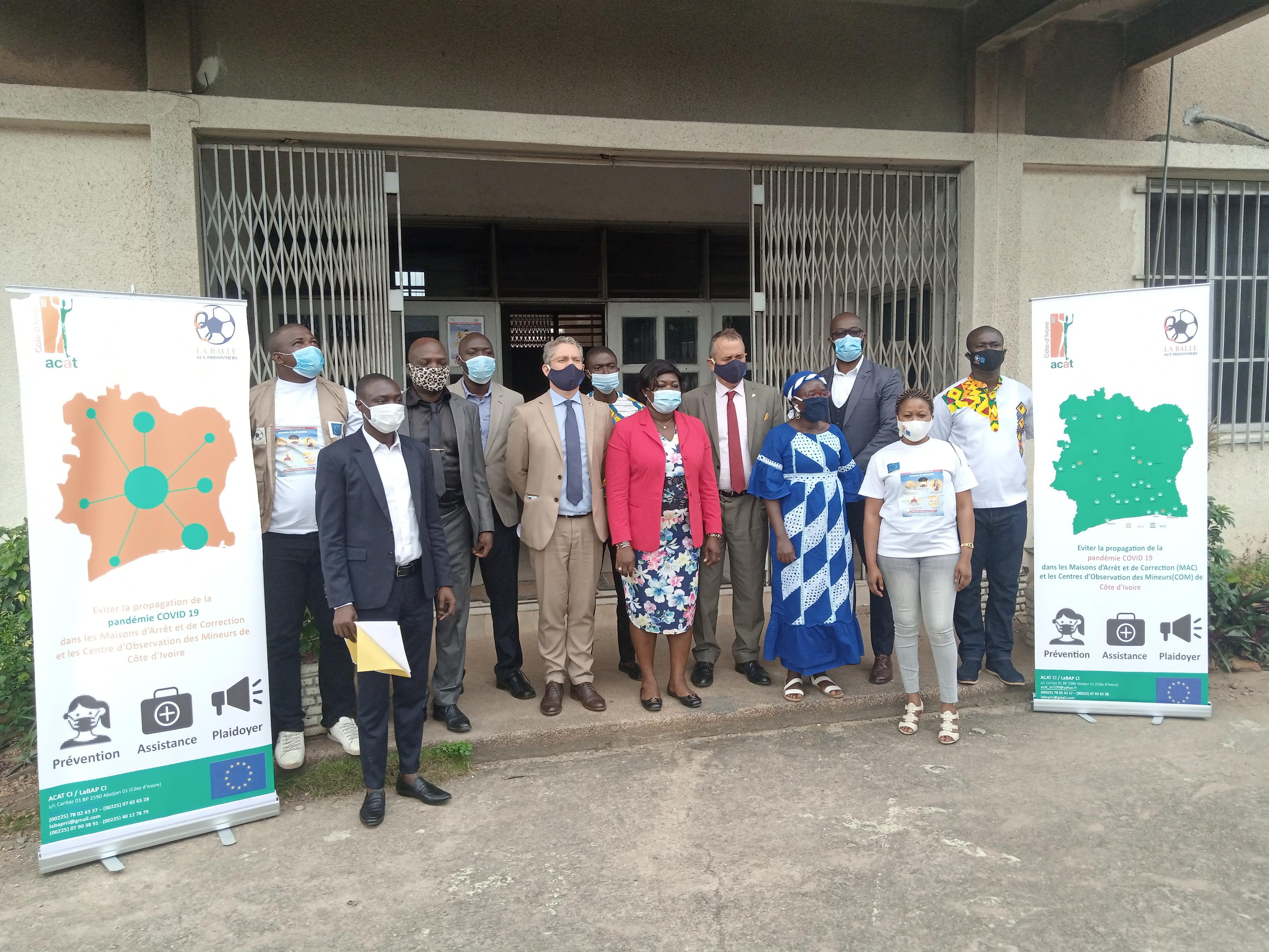 Actions préventives contre la Covid-19 en milieu carcéral Ivoirien : L'ACAT-CI et LaBAP félicitées, après 4 mois d'activités