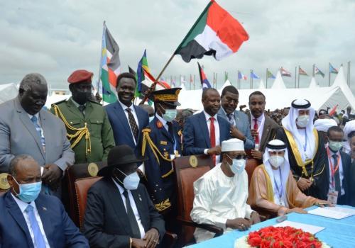 Le président Idriss Déby appelle la communauté internationale à aider le Soudan. © PR