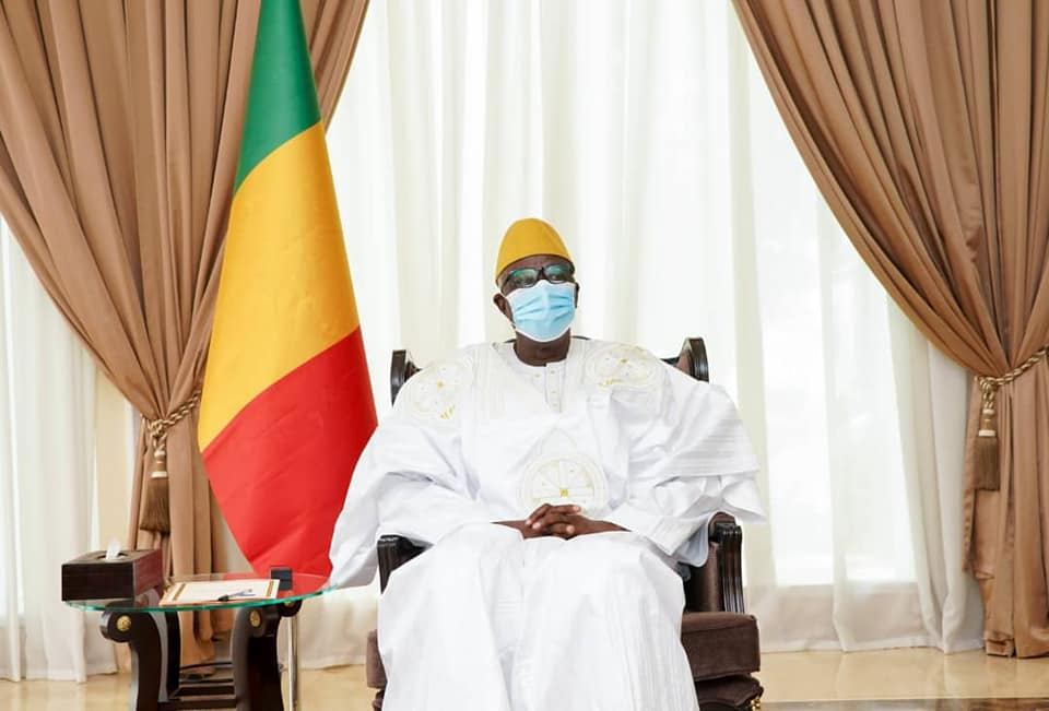Le président de la transition du Mali, Bah N'Daw. © Présidence Mali