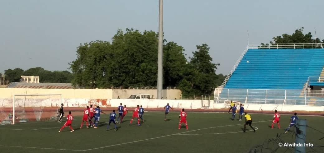 Les SAO du Tchad le 25 septembre 2020 lors d'un match contre les Crocodiles du Nil à N'Djamena. © Malick Mahamat/Alwihda Info