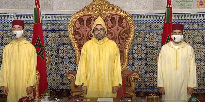 Ouverture de la session parlementaire d'automne par le Roi du Maroc. © DR