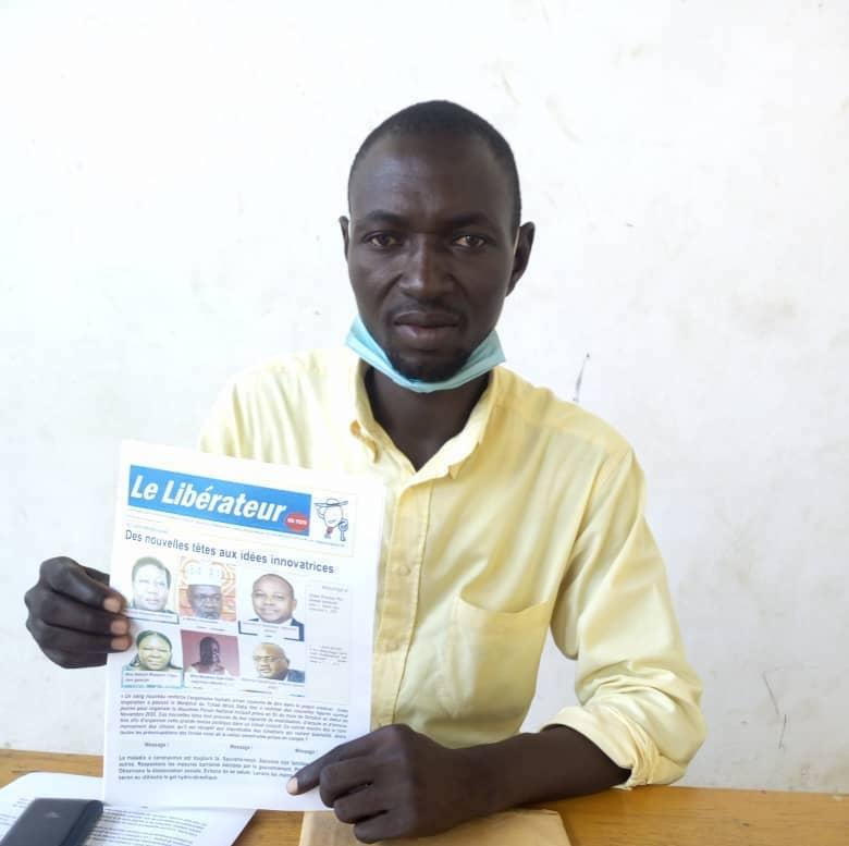 """Yo-hounkilam Jules Daniel, fondateur et directeur du journal """"Le Libérateur"""". © Malick Mahamat/Alwihda Info"""