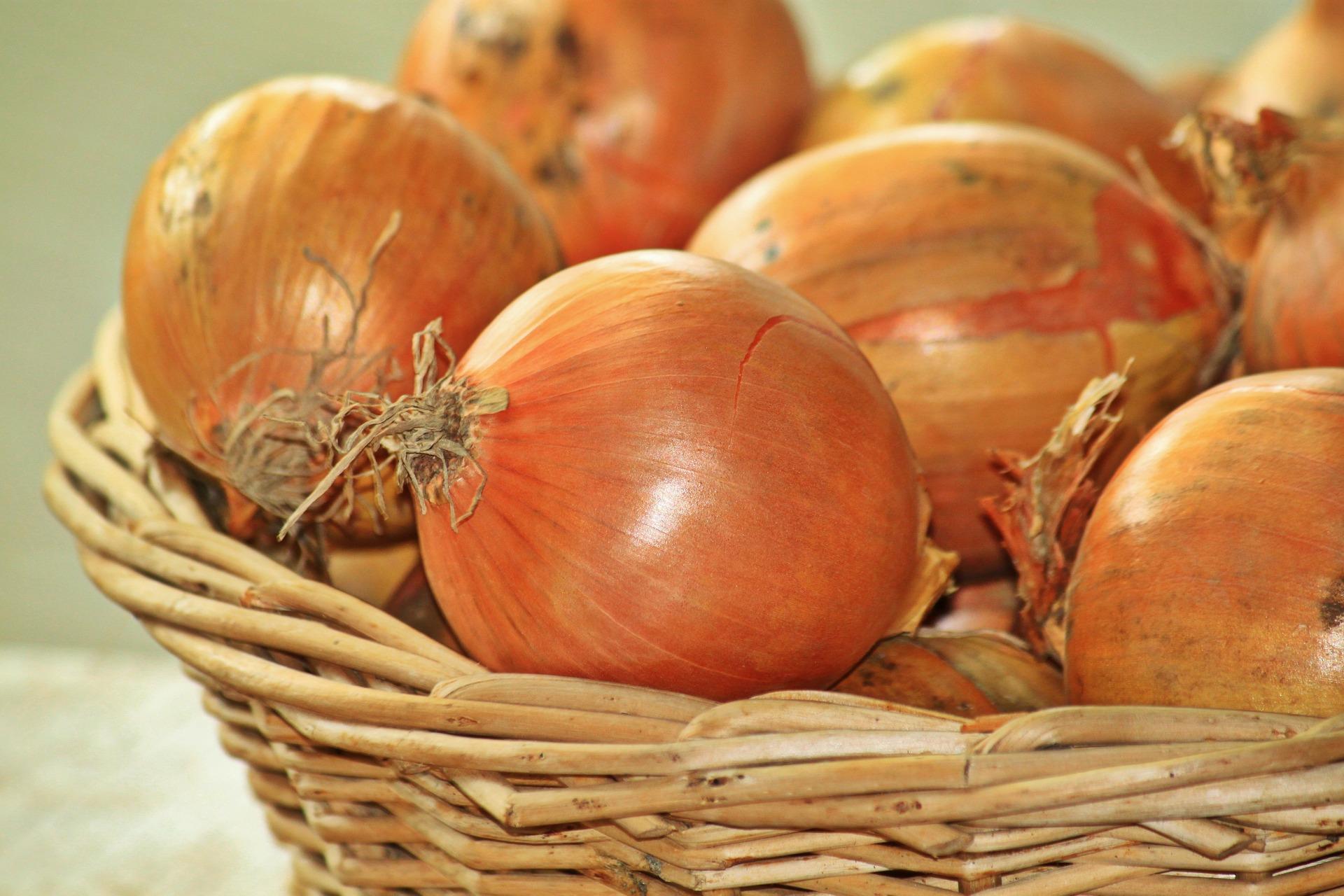 Un panir d'oignons. Illustration © Anja/pixabay