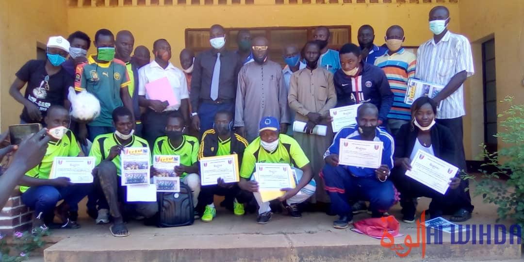 Tchad : 16 lauréats reçoivent leur diplôme d'entraîneur de football à Pala. © Foka Mapagne/Alwihda Info