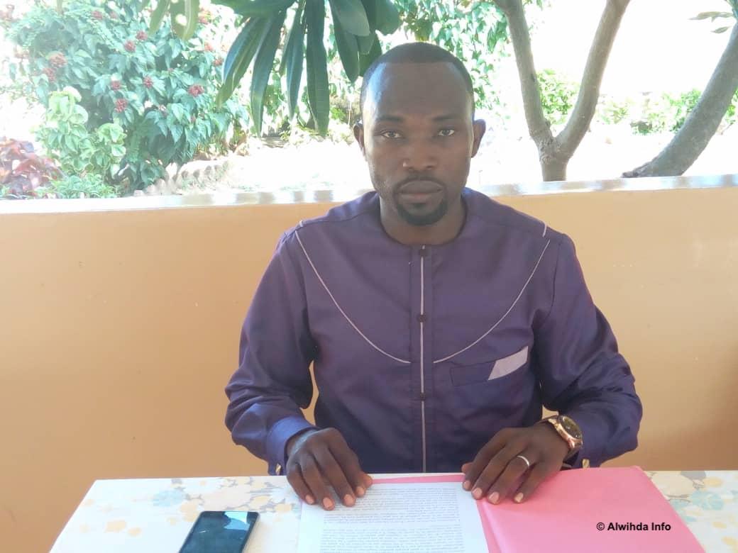 Le président de l'association Chrétienne pour l'Eveil et l'action, Me. Ndilhornom Bahoudel Osée. © Golmem Ali/Alwihda Info