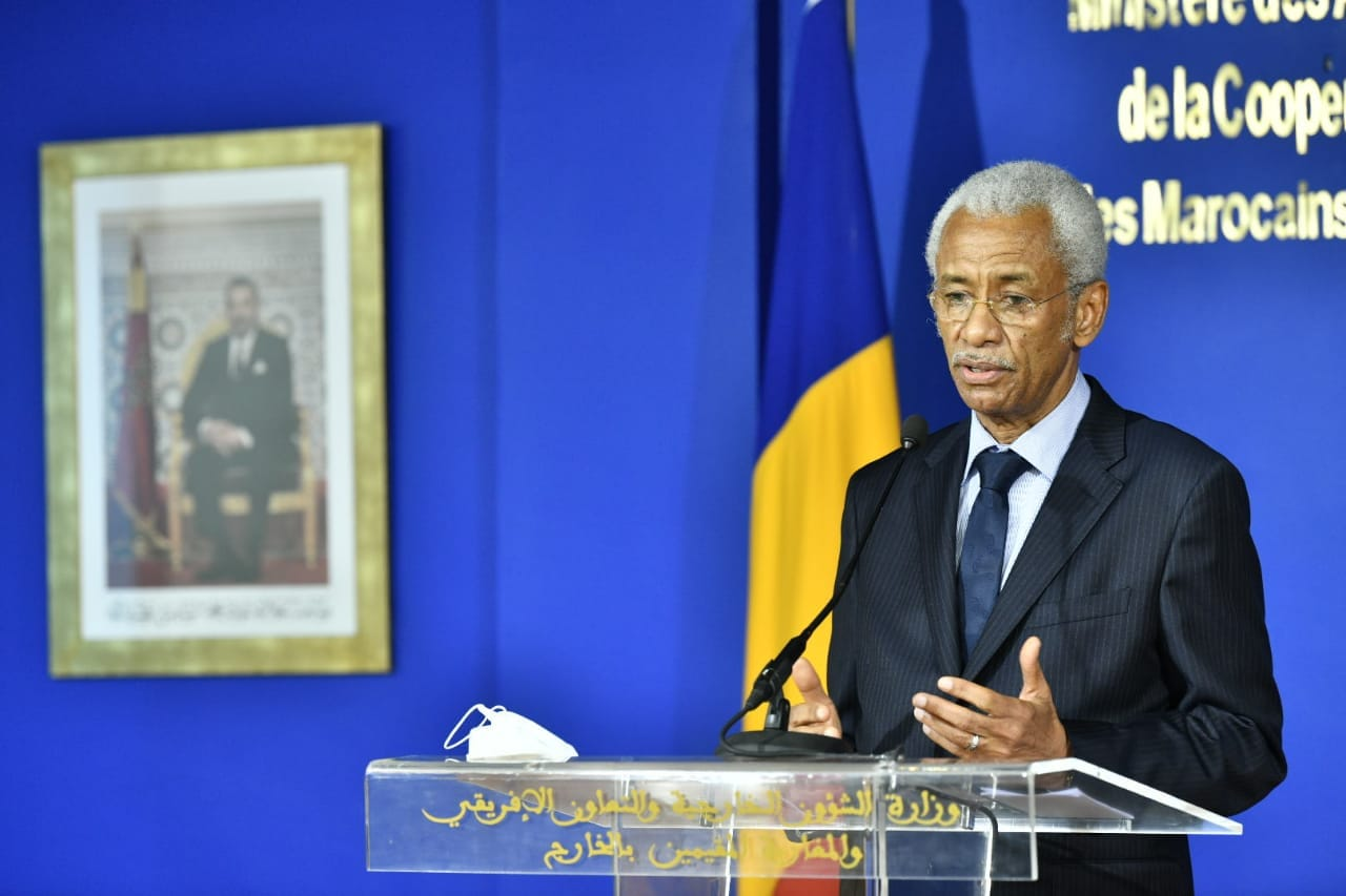 Le ministre tchadien des Affaires étrangères reçu par son homologue marocain à Rabat. ©Diplomatie.ma