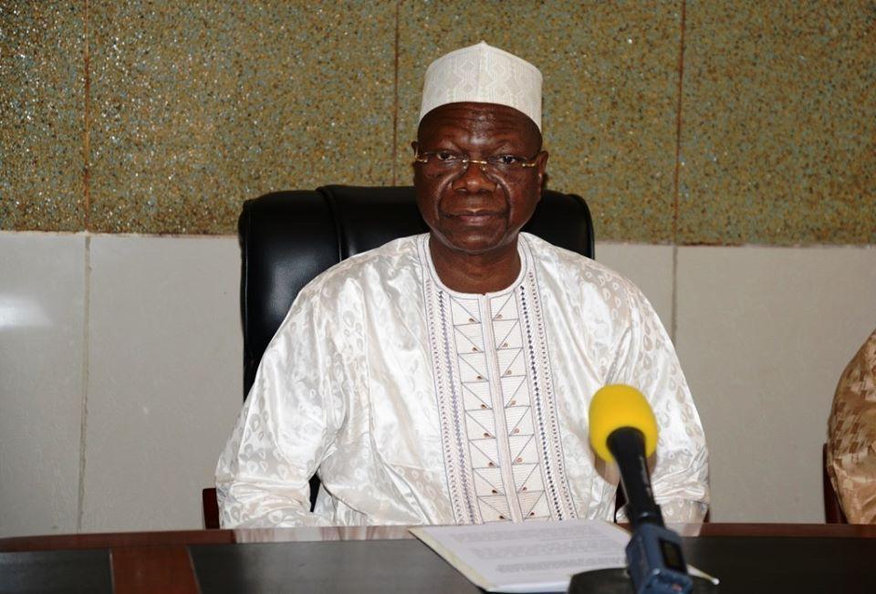 Le ministre d'État, ministre secrétaire général de la Présidence de la République, Kalzeubé Payimi Deubet. ©PR