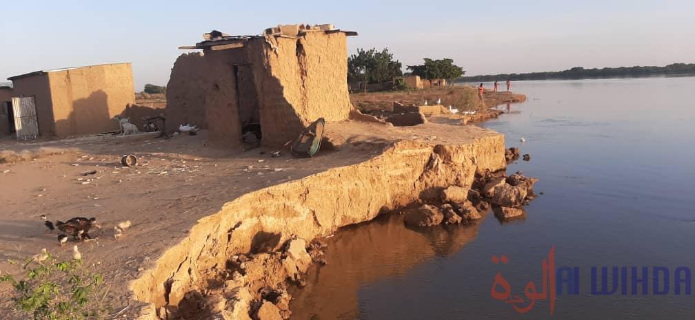 Tchad : des populations dans le désarroi face à la crue du fleuve Chari. © Alwihda Info