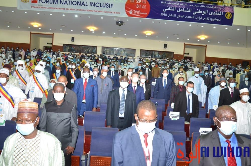 Tchad : la salle du Palais du 15 janvier lors du 2ème Forum national inclusif, le 29 octobre 2020. © Ben Kadabio/Alwihda Info