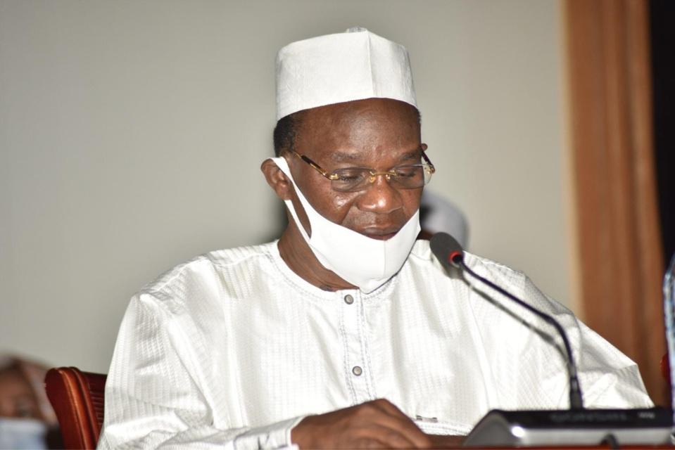 Le rapporteur général du 2e Forum national inclusif et ministre de la Justice Djimet Arabi. © FNI