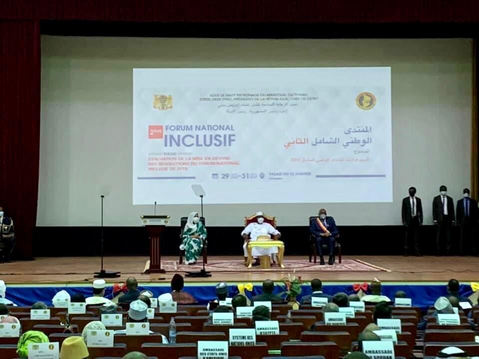 Les assises du 2ème Forum national inclusif au Palais du 15 janvier.
