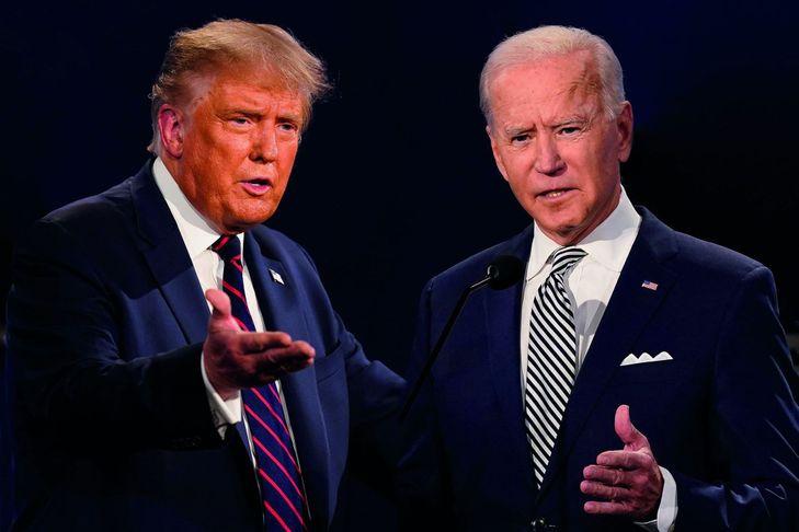 Donald Trump (gauche) et Joe Biden. Créateur : Patrick Semansky. ©Crédits : AP