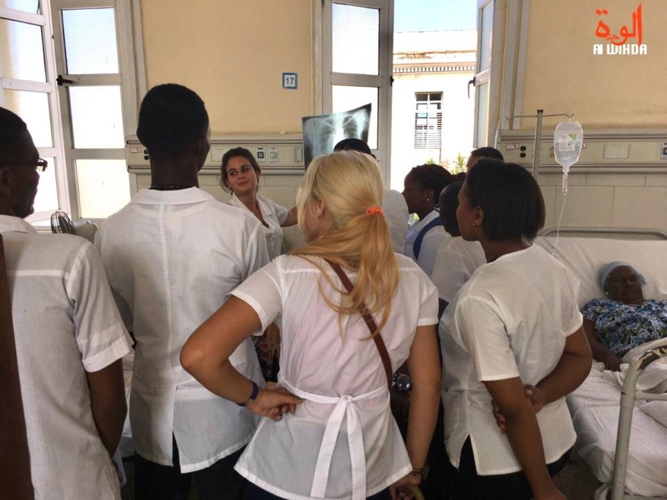 Des étudiants tchadiens en cours de médecine à La Havane, à Cuba. © Alwihda Info