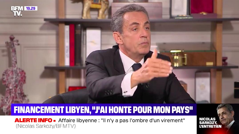 """Financements libyens : Sarkozy évoque des """"recherches"""" menées au Tchad. © Capture d'écran BFM TV"""