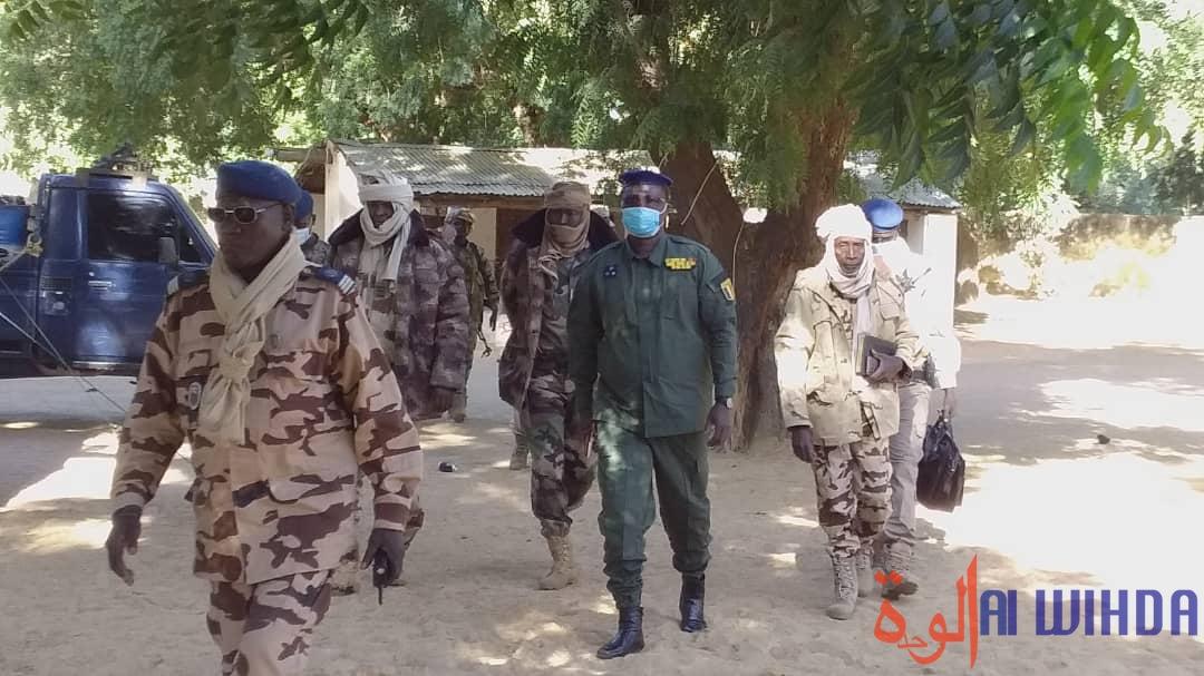 Tchad : le directeur général de la gendarmerie en mission d'inspection au Batha. © Hassan Djidda Hassan/Alwihda Info