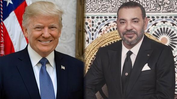 Le président américain (gauche) et le Roi du Maroc. © DR