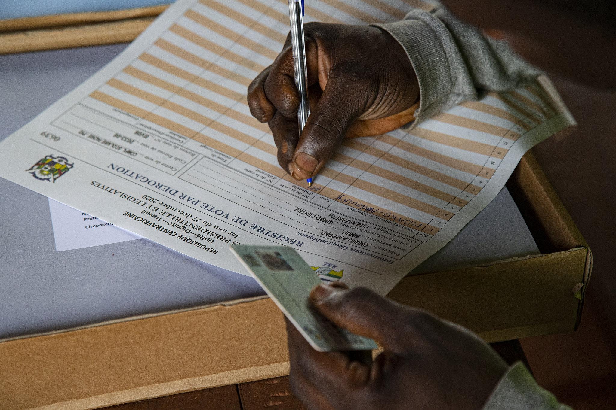 Élection en Centrafrique. © UN/MINUSCA - Leonel Grothe