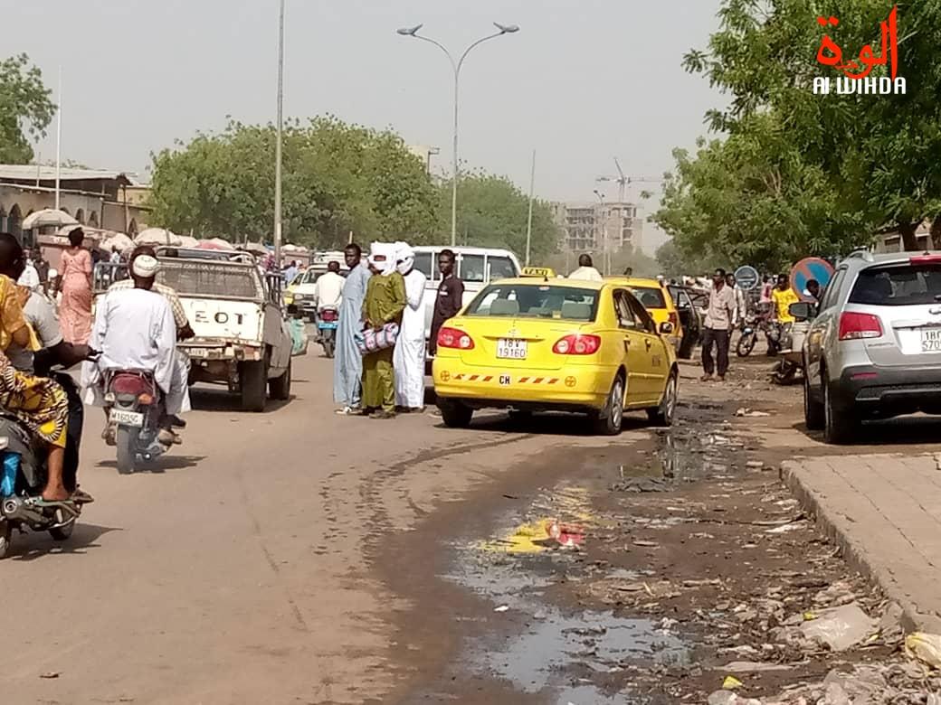 La circulation à N'Djamena. © Kelvin Djetoyo/Alwihda Info