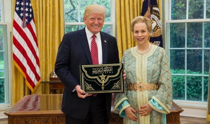 Le Président américain Donald Trump a également reçu la plus haute distinction du Maroc. © DR