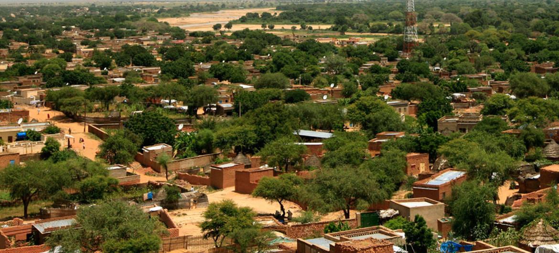 La ville d'El Geneina, la capitale de l'Ouest Darfour, au Soudan. Photo MINUAD/Hamid Abdulsalam