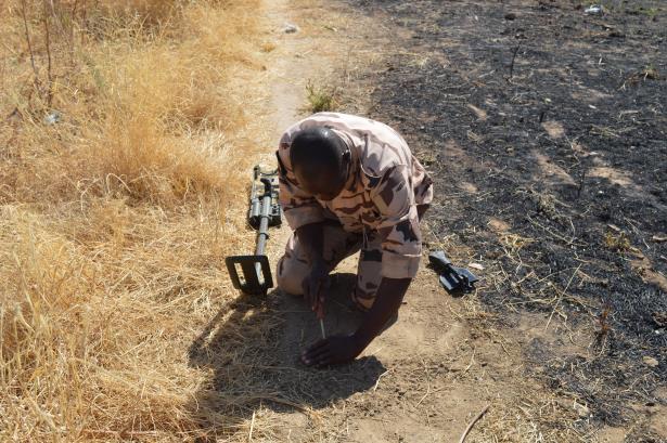 Tchad : des démineurs du génie militaire encadrés grâce à la coopération française. © Ambassade France au Tchad