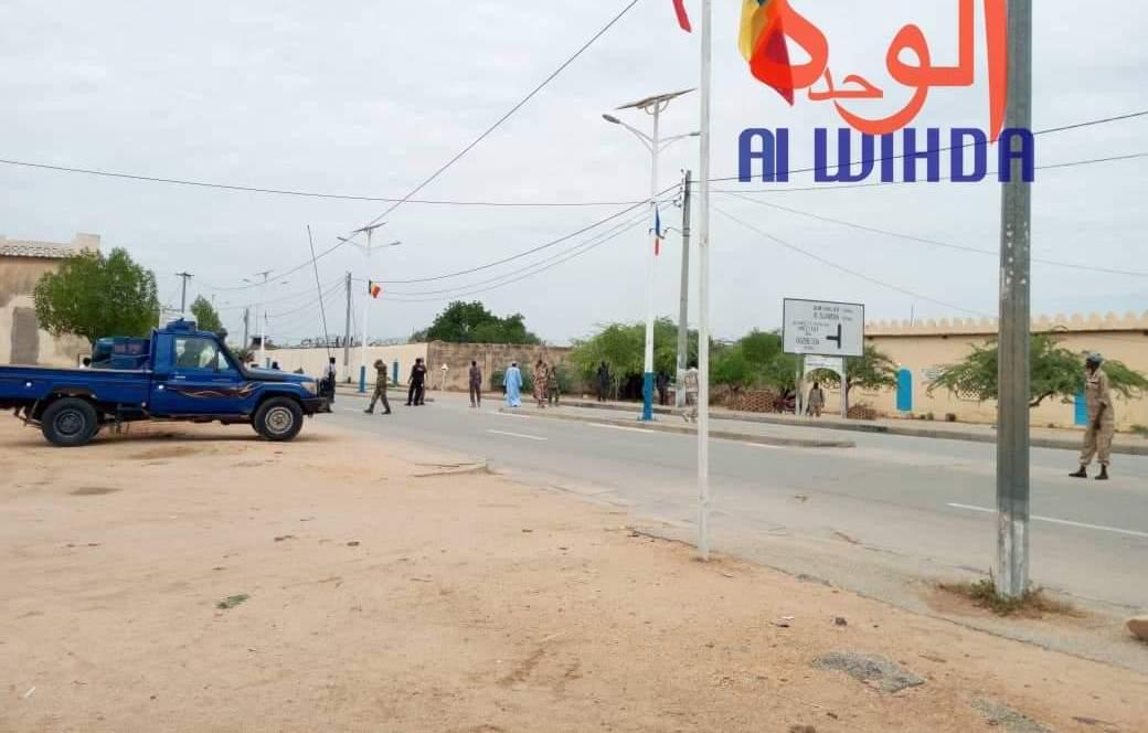 La rue menant à la maison d'arrêt d'Abéché. © Alwihda Info