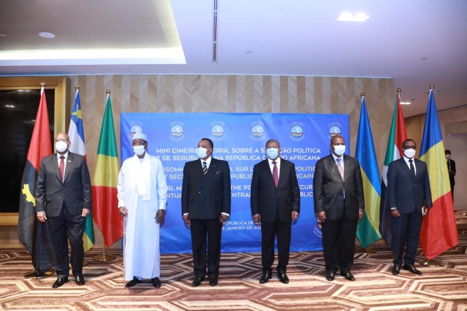 Les Chefs d'État présents au Mini-sommet de Luanda.