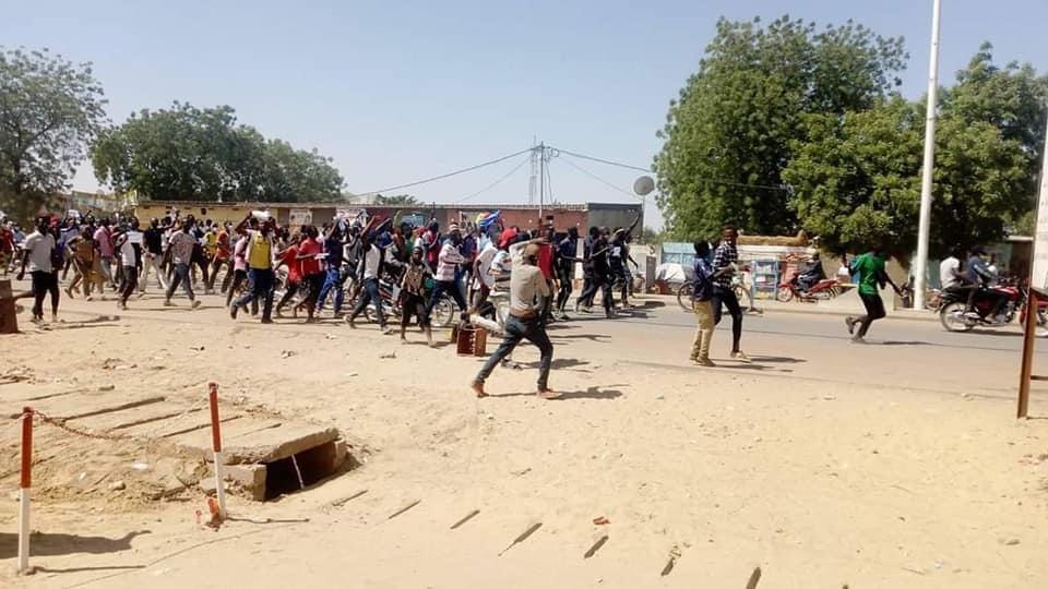 Marche à N'Djamena le 13 février 2021. Crédits : DR
