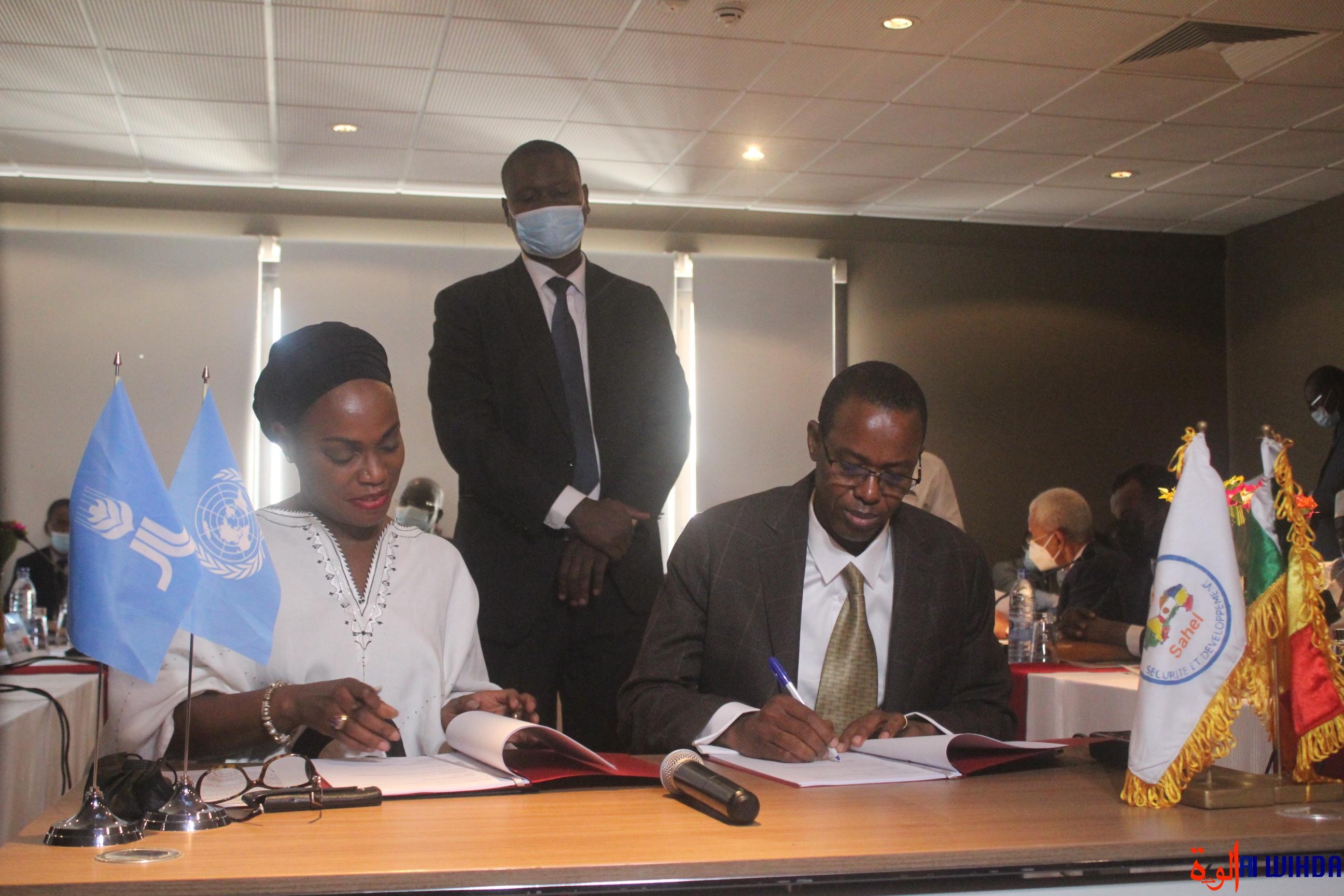 N'Djamena : les pays du G5 Sahel signent des accords de financement avec le FIDA. © Malick Mahamat/Alwihda Info