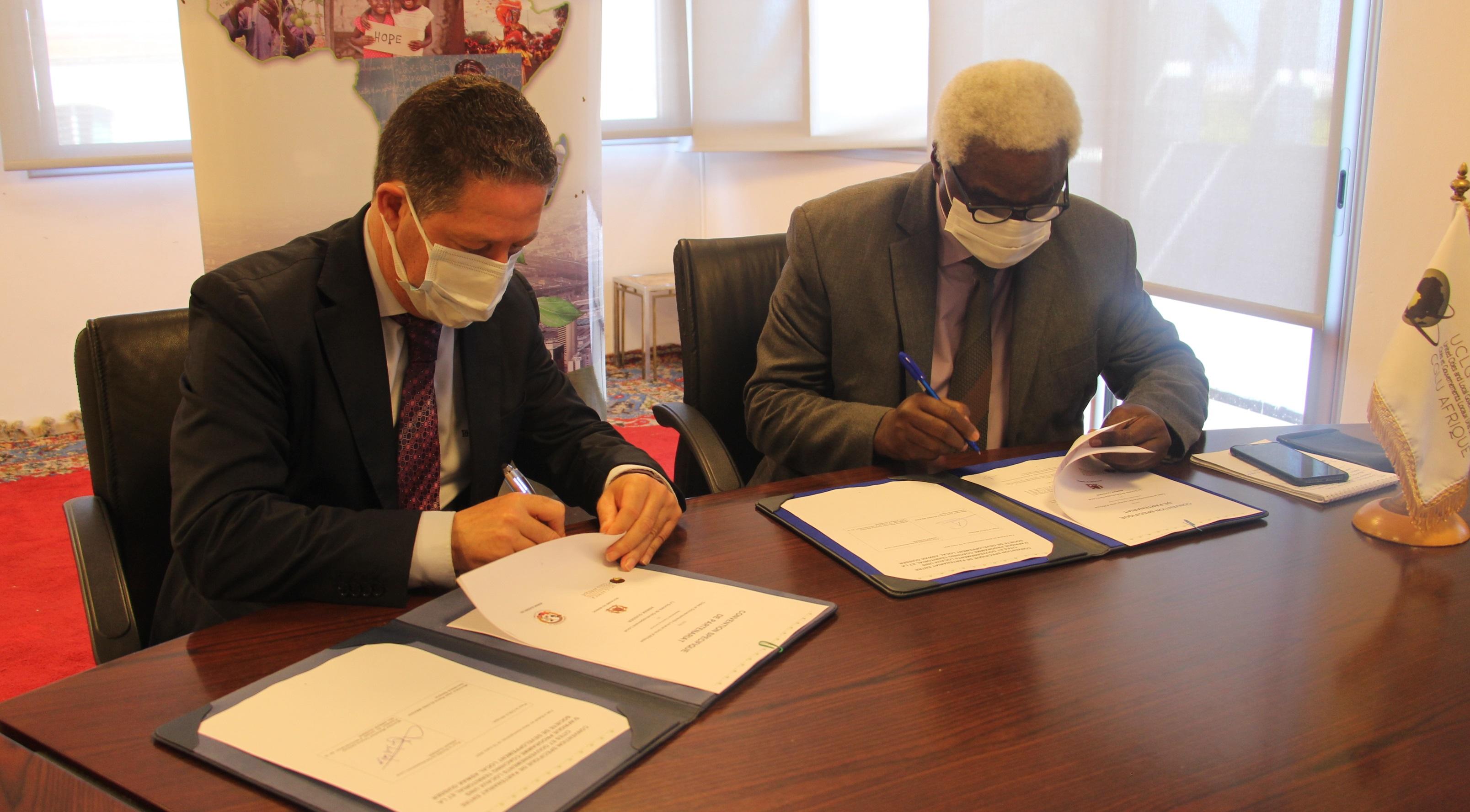 Développement local : CGLU Afrique et Aswak Guisser signent une convention