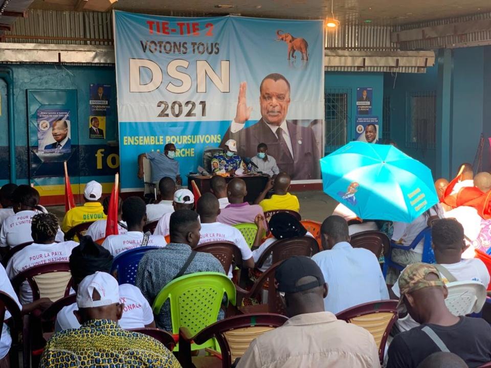Congo-Présidentielle : Brice Dimitri Bayendissa évalue le travail réalisé par les animateurs à la base de la campagne du candidat Sassou-N'Guesso à Tié Tié II