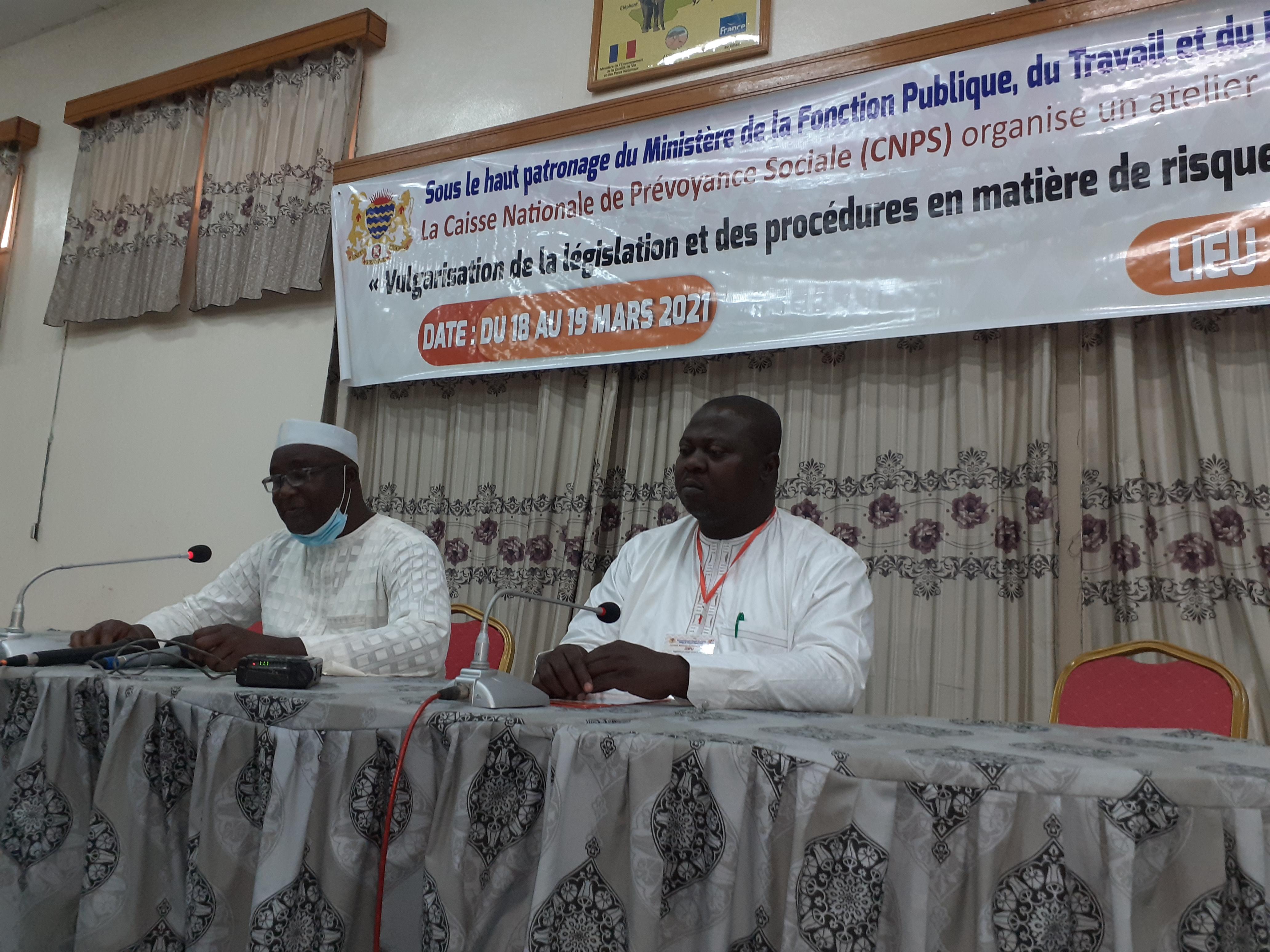 Tchad : Un atelier sur les risques professionnels au travail, organisé par la CNPS au CEFOD, du 18 au 19 mars 2021